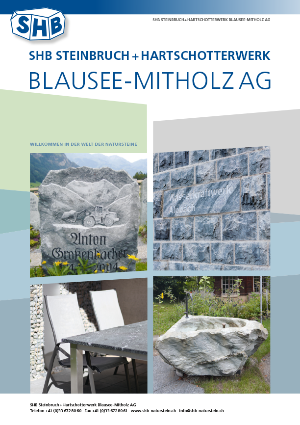 SHB Naturstein Firmenprospekt