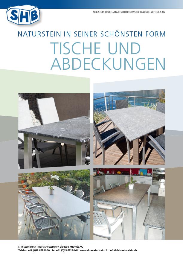 SHB Naturstein Tische und Abdeckungen